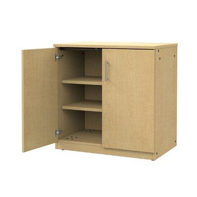 Mobile CaseGoods 2 Door Storage Cabinet Frame Color: Fusion Maple, Trim Color: Fusion Maple