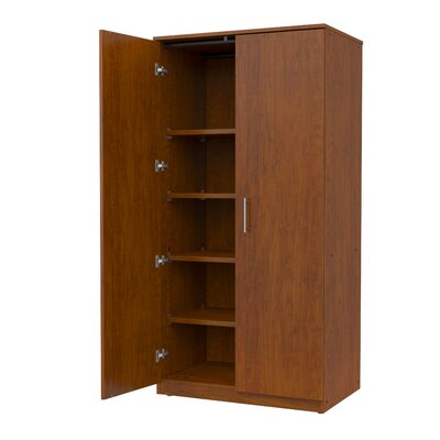 Mobile CaseGoods 2 Door Storage Cabinet Frame Color: Solar Oak, Trim Color: Solar Oak