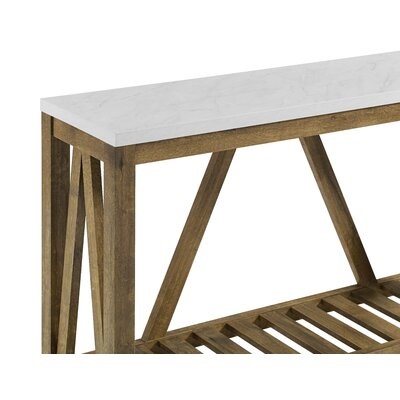 Brandy Entry Console Table Color: White Walnut