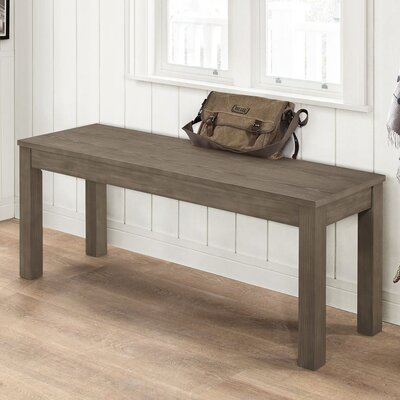 Chetna Simple Wood Dining Bench Color: Aged Gray