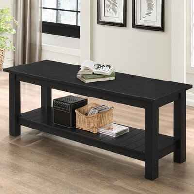 Urmee bench Color: Black