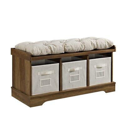 Liller Wood Storage Bench Color: Rustic Oak