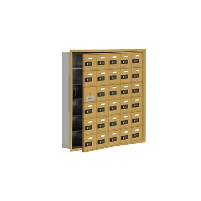"""29 Door Cell Phone Locker Color: Gold, Size: 35.25"""" H x 35.75"""" W x 5.75"""" D"""