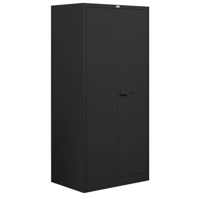 2 Door Storage Cabinet Color: Black