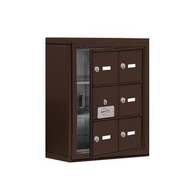 """3 Tier 2 Wide EmpLoyee Locker Color: Bronze, Size: 20"""" H x 17.5"""" W x 6.25"""" D"""