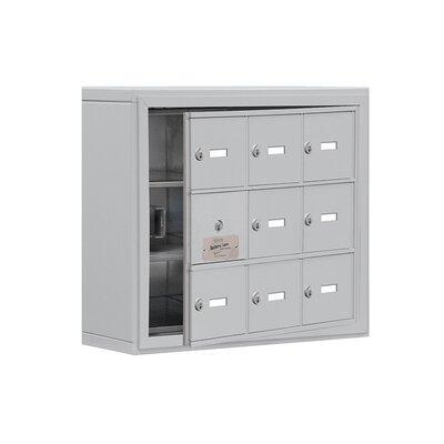 "3 Tier 3 Wide EmpLoyee Locker Size: 20"" H x 24"" W x 6.25"" D, Color: Aluminum"