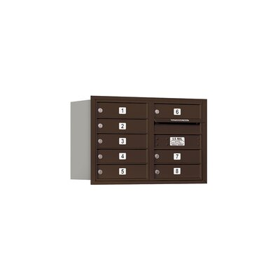 8 Door Front Load 4C Horizontal Mail Center Color: Bronze