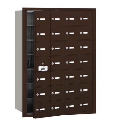 28 Door Front Load 4B Horizontal Mail Center Finish: Bronze