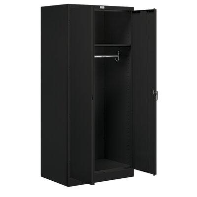 """78""""H x 36""""W x 24""""D 2 Door Storage Cabinet Color: Black"""