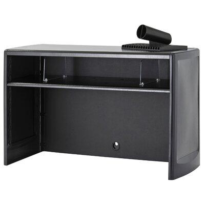 "18.5"" H x 30"" W Desk Hutch Finish: Black"