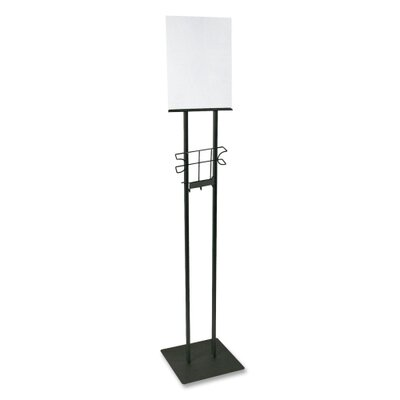 "Lobby Sign Holder, Stand, 12""x12""x48"", Black"