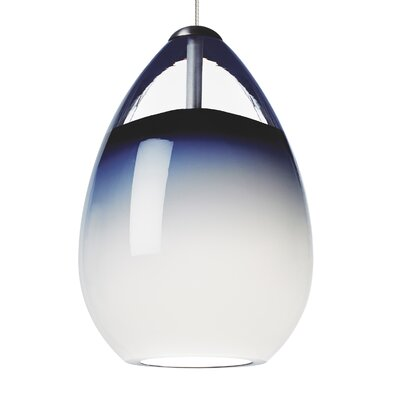 Alina 1 Light Track Pendant Finish: Chrome, Shade Color: Steel Blue, Mounting Type: 2 Circuit Monorail