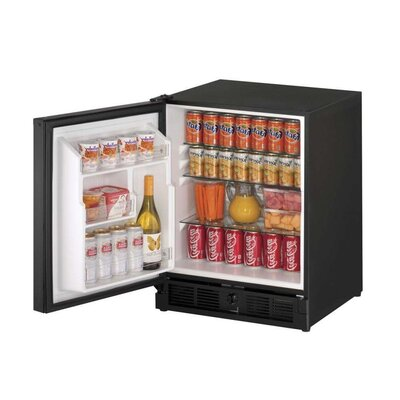21-inch 3.3 cu. ft. Undercounter Refrigeration Finish: Black, Hinge Orientation: Left