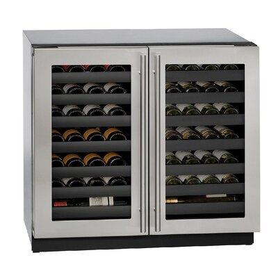 62 Bottle 3000 Series Integrated DBL Door Dual Zone Built-In Wine Cooler