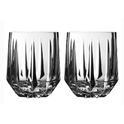 Vera Wang Peplum Old Fashioned Crystal Cocktail Glass