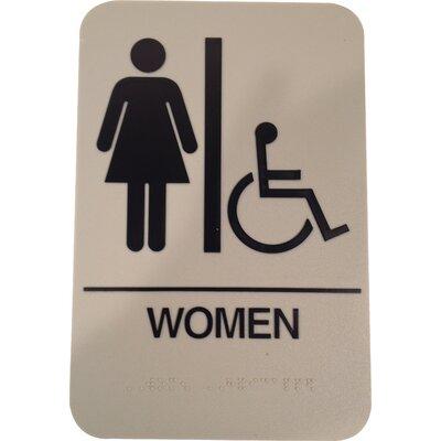 Women' Handicap restroom sign