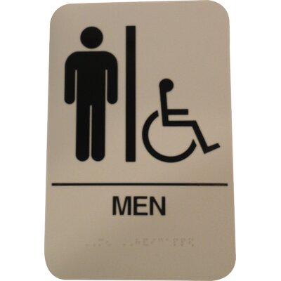 Men's Handicap restroom sign