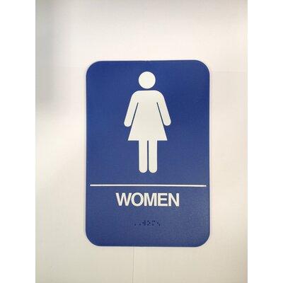 Women's Restroom Sign Color: Brown
