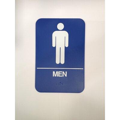 Men's Restroom Sign Color: Brown