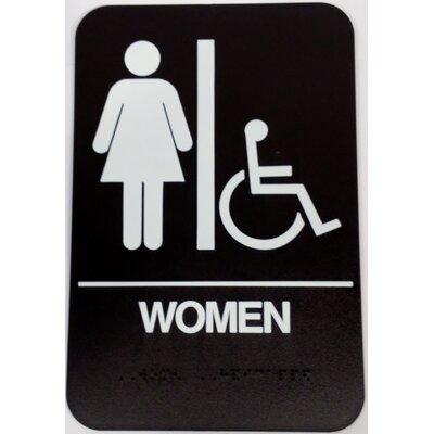 Women's Handicap Restroom Sign Color: Brown