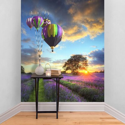 The Binary Box Hot Air Balloon Self Adhesive Wallpaper