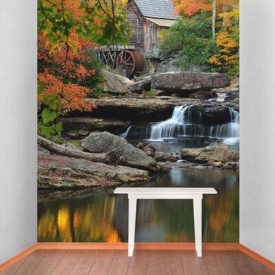 The Binary Box Water Wheel Self Adhesive Wallpaper