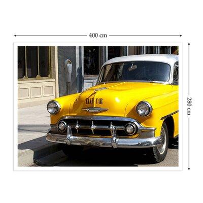 The Binary Box Vintage American Taxi Self Adhesive Wallpaper
