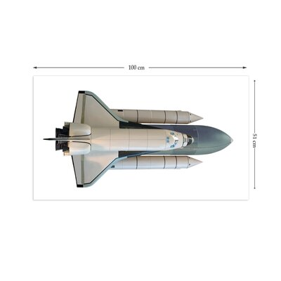 The Binary Box Educational Space Shuttle Wall Sticker
