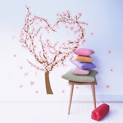 The Binary Box Love Heart Blossom Tree Wall Stickers