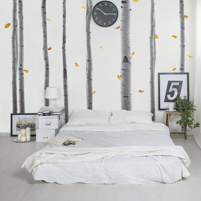 The Binary Box Realistic Birch Trees Wall Stickers