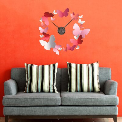 The Binary Box Butterflies Butterfly Clock Wall Sticker