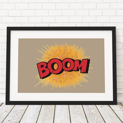 The Binary Box Comic Book Boom Framed Typography
