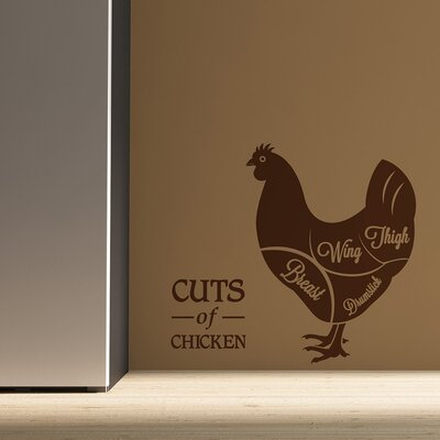 The Binary Box Cuts of Chicken Wall Stickers