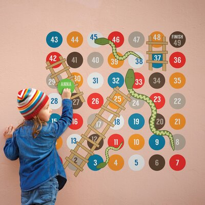 The Binary Box Children's Snakes and Ladders Game Wall Stickers