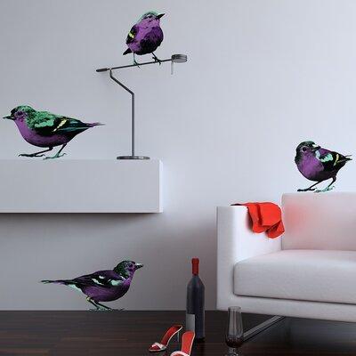 The Binary Box Bird Pop Sparrows Wall Stickers