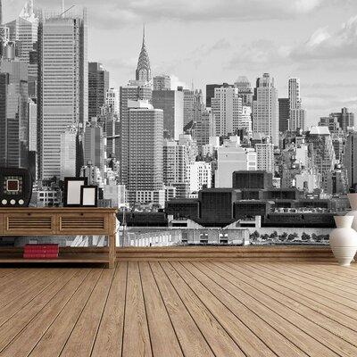 The Binary Box Hudson River New York Self Adhesive Wallpaper