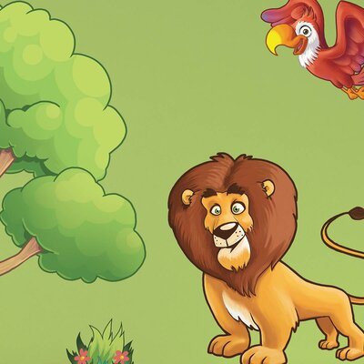 The Binary Box Children's Jungle Animals Wall Sticker