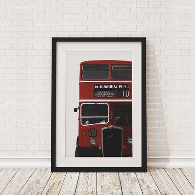 The Binary Box British Bus Cropped Framed Photographic Print