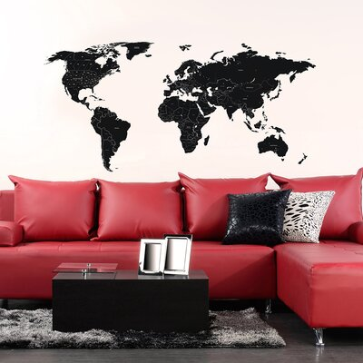 The Binary Box Travel World Map Wall Stickers