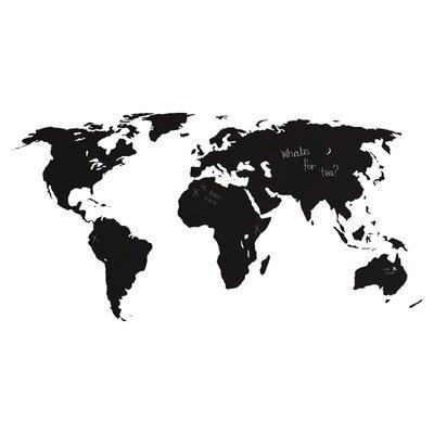 The Binary Box Chalkboard World Map Wall Sticker