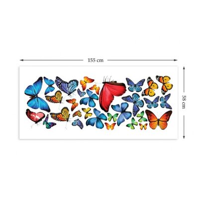 The Binary Box Summer Butterfly Wall Stickers