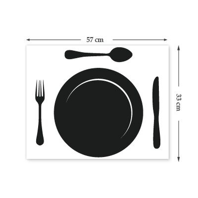 The Binary Box Chalkboard Plate and Cutlery Wall Stickers