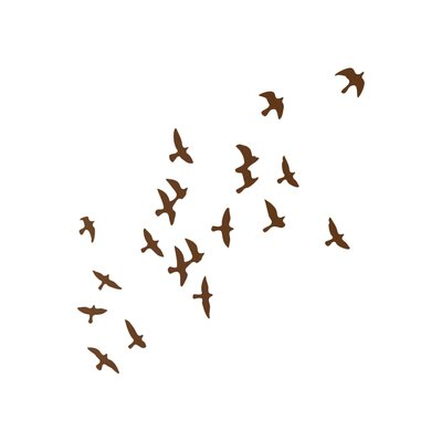 The Binary Box Flock of Birds Wall Sticker
