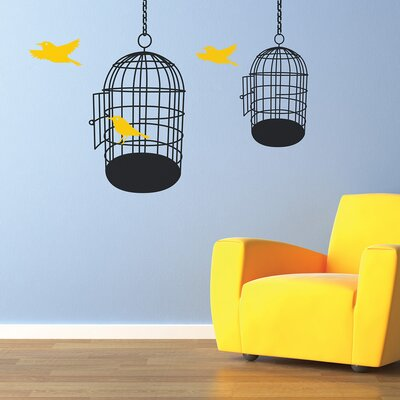 The Binary Box Birdcages Wall Sticker