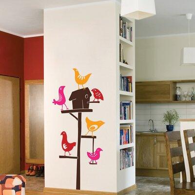 The Binary Box Bird Feeder Wall Stickers