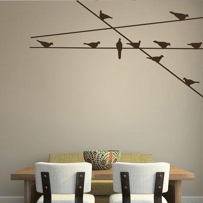 The Binary Box Perching Birds Wall Stickers