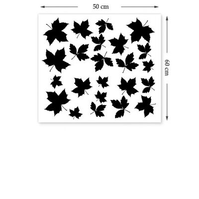 The Binary Box Falling Leaves Wall Sticker