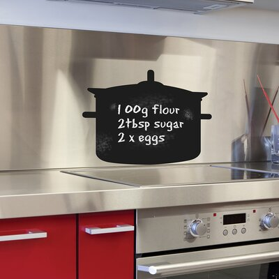 The Binary Box Chalkboard Cooking Pot Wall Sticker