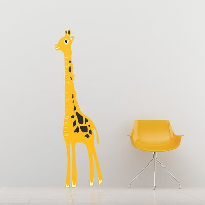 The Binary Box Children's Giraffe Height Chart Wall Sticker