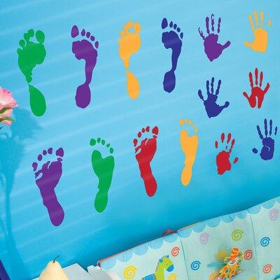 The Binary Box Children's Hands and Feet Wall Sticker